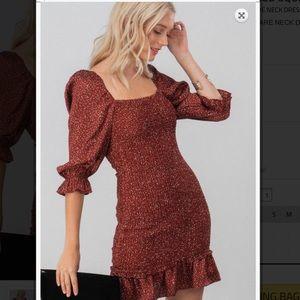 Gorgeous fitted chiffon dress